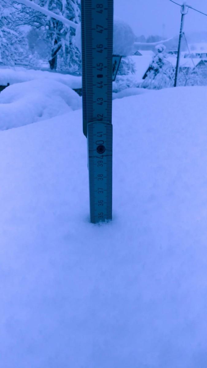 Schneehöhe 10.01.2019